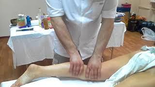 Делаем мануальный массаж ног. Ч-3. Икры.