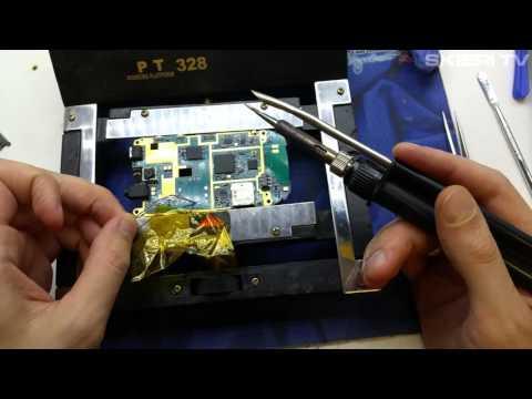 Samsung S3850 Corby 2 II - wymiana gniazda sim - naprawa - repair sim