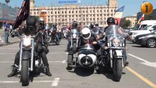 Колонна байкеров стартовала из Волгограда в Севастополь на шоу «Ночных волков»