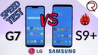 LG G7 VS Samsung Galaxy S9+ SPEED TEST