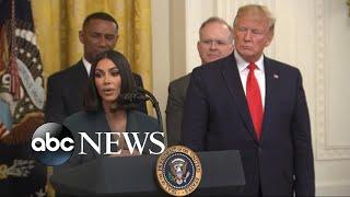 Kim Kardashian West speaks at criminal justice reform event at White House