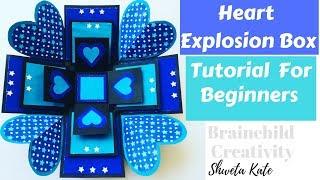 Explosion Box Tutorial For Beginners | DIY Explosion Box For Birthday / Anniversary | Easy Tutorial