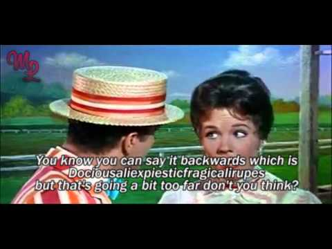 "Mary Poppins (1964) - ""Supercalifragilisticexpialidocious"" - Video/Lyrics"