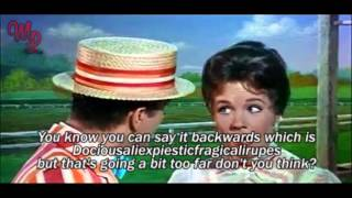 Mary Poppins (1964) - Supercalifragilisticexpialidocious - Video/Lyrics