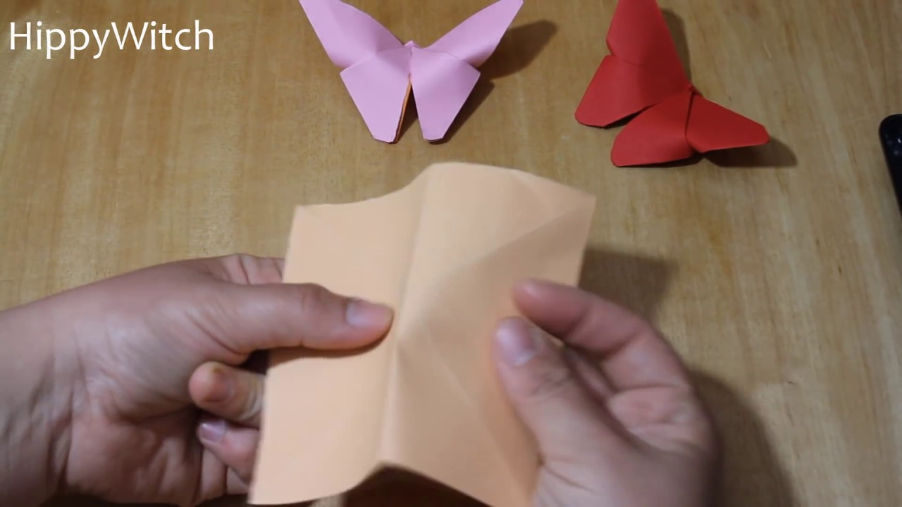 Tutorial Farfalle Di Carta Origami Youtube