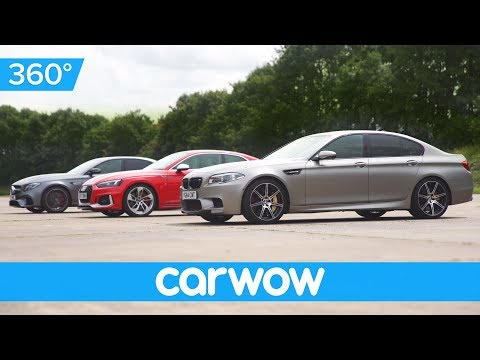 BMW M5 v Mercedes-AMG E63 S v Audi RS 5 360-degree DRAG RACE