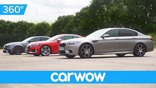 BMW M5 v Mercedes-AMG E63 S v Audi RS 5 360-degree DRAG RACE