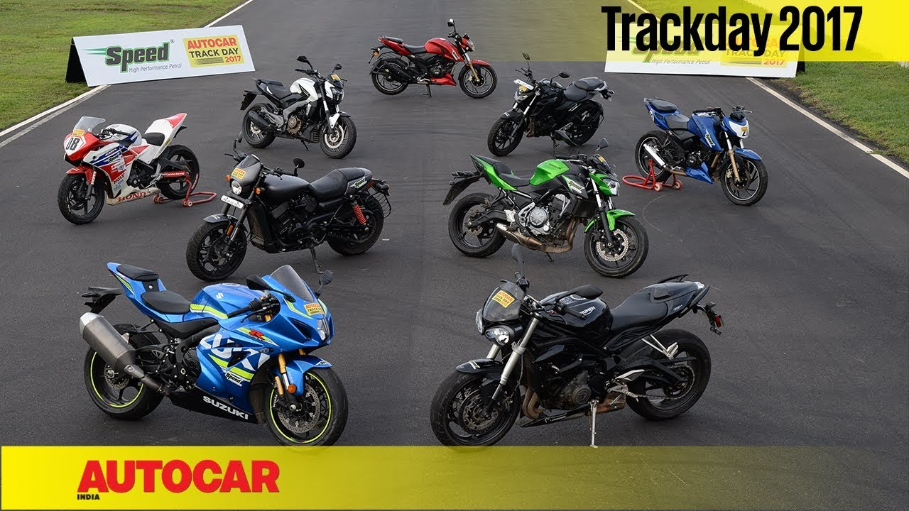 Track Day 2017 India S Best Track Bikes Autocar India Youtube