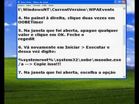 Validando o WinXP - Tutorial