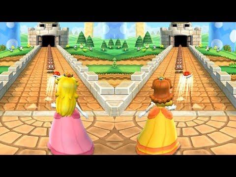 Mario Party 9 Step It Up - Peach vs Daisy Master Difficulty (7 win)| Cartoons Mee