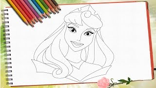 Drawing Princess Aurora step by step/Рисую принцессу Аврору(How to draw princess Aurora. Easy drawing for girls step by step. Pause video and draw line by line./ Как рисовать принцессу Аврору. Поэтапное легкое..., 2016-07-08T07:43:24.000Z)