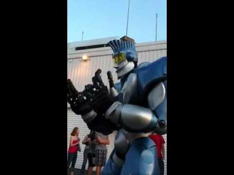 Erie County Fair Hamburg NY Blue Robot