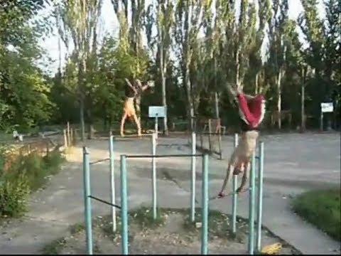 видео: Херсон Дворовые и гимнастические элементы на турнике 2010 год