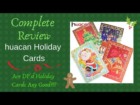 COMPLETE Review - Crystal DP Xmas cards - From huacan on AliExpress