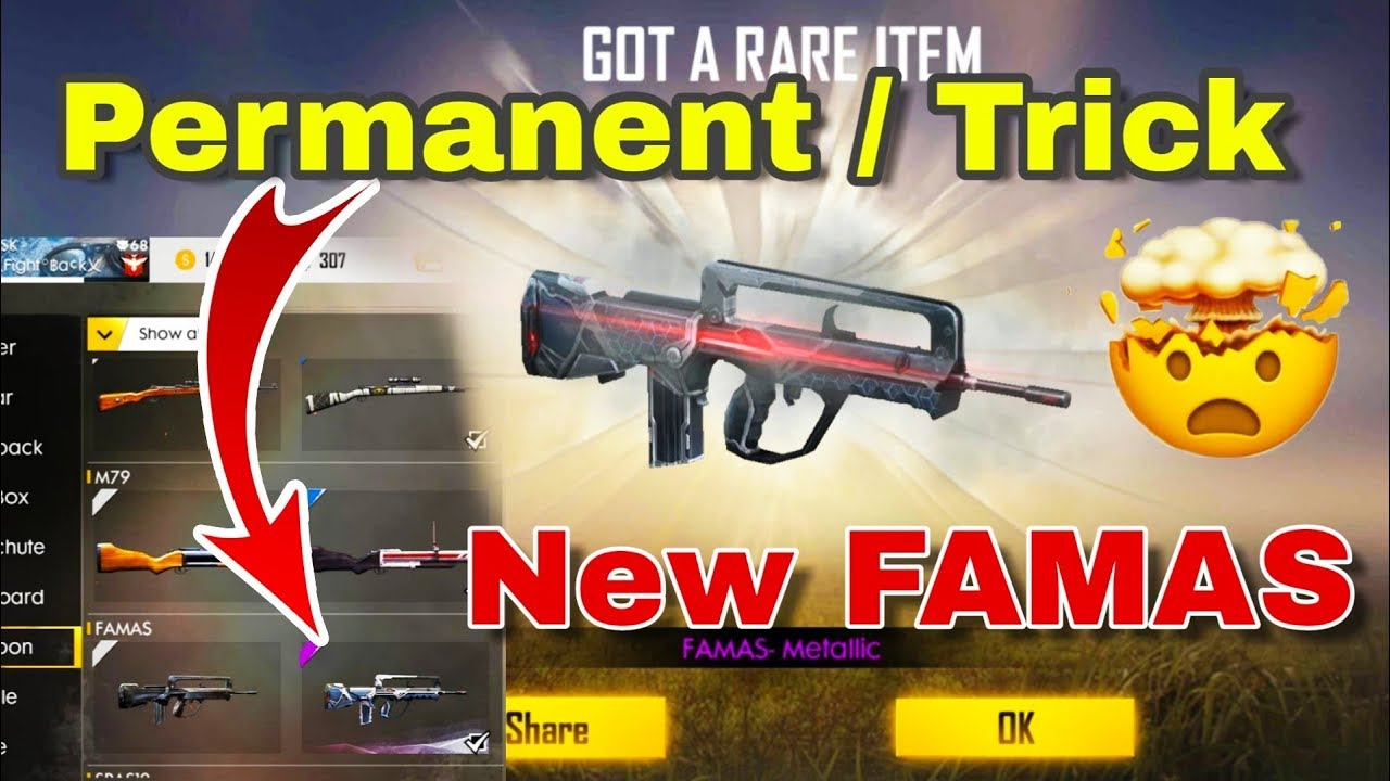 New Weapon Royale Metalic Famas Permanent Trick Garena Free Fire