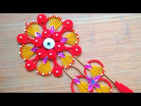 Reuse Old Bangles Craft Idea - How to Make Bangles Wall Hanging-Home Decorating idea