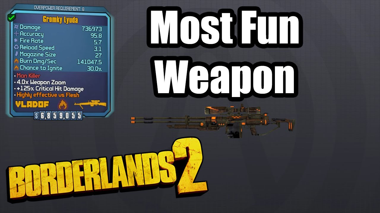 borderlands 2 most fun weapon in the game youtube