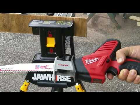 Milwaukee M12 Hackzall (2420-21) with 9 inch AX Blades ..Yes 9 inch Blades (Raw Footage)