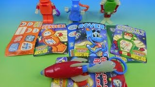 2014 GLOW HEROES SET OF 4 POPEYE'S KID'S MEAL TOY'S VIDEO REVIEW