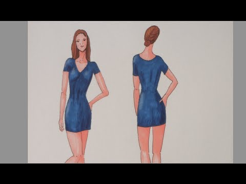 How to Sketch a Fashion Figure Easily   YouTube