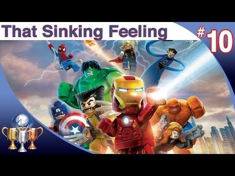 LEGO Marvel Super Heroes Walkthrough - Level 10 (That Sinking Feeling) Thor, Iron Man & Spider-Man