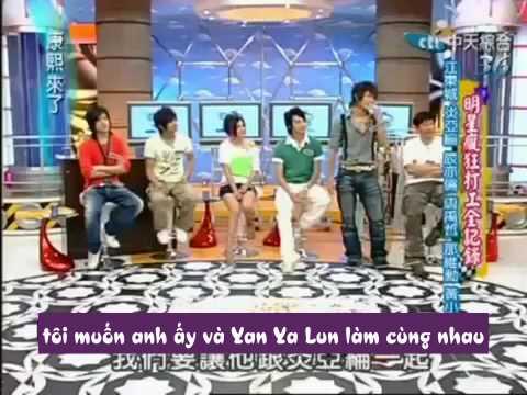 [DLVN] DongLun gần hôn nhau trên  Kang Xi Lai Le [The X family cast].avi