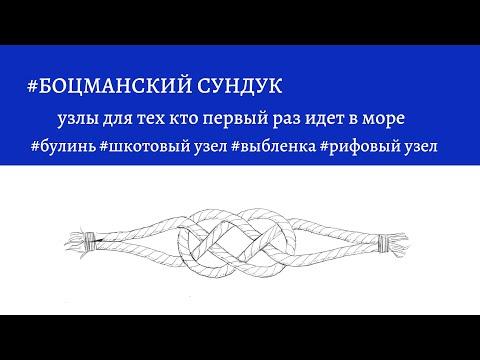 Боцманский сундук - необходимые узлы для тех кто первый раз идет в море