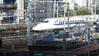 名古屋駅に到着する東海道新幹線N700系 2019.8.24