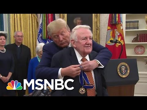 Ed Meese An Unlikely Recipient Of Honor ...Except By Trump   Rachel Maddow   MSNBC