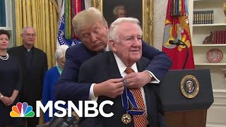 Ed Meese An Unlikely Recipient Of Honor ...Except By Trump | Rachel Maddow | MSNBC