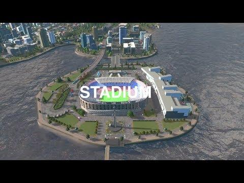 Modern Island Stadium Design  Cities:Skylines