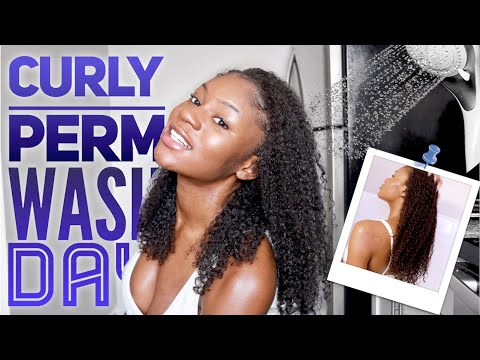 curly-perm-wash-day-routine-on-african-american-hair
