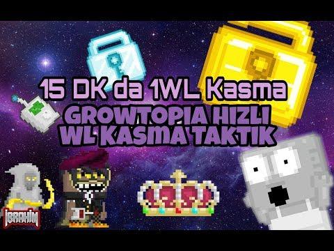 Growtopia 15 Dakikada 1 WL Kasmak   Nasıl Zengin Olunur ?   WL Kasma Taktik