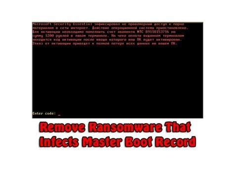 Remove Ransomware That Infects Master Boot Record MBR by Britec