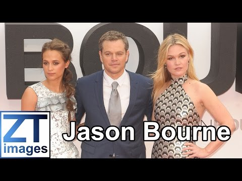 Alicia Vikander, Matt Damon, Julia Stiles film premiere Jason Bourne London UK
