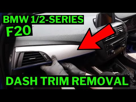 Bmw 1 2 Series Interior Dash Door Trim Removal How To F20 F21