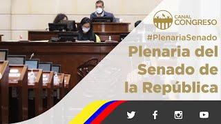 #PlenariaSenado - 09 de Junio de 2021