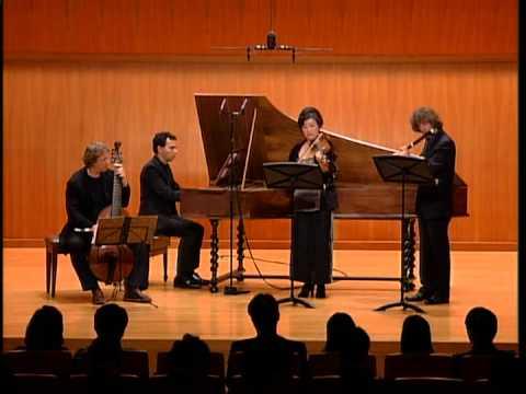 C.P.E. Bach - Trio sonata for flute, violin & BC in D minor