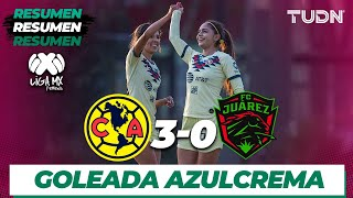 Resumen y goles | América 3 - 0 Juárez | Liga MX femenil - CL 2020 J1 | TUDN