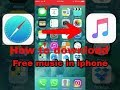How to download free music in iphone.NO Jailbreak,No Cydia(New Trick)