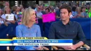 Kristen Wiig and Bill Hader in Good Morning America 2014