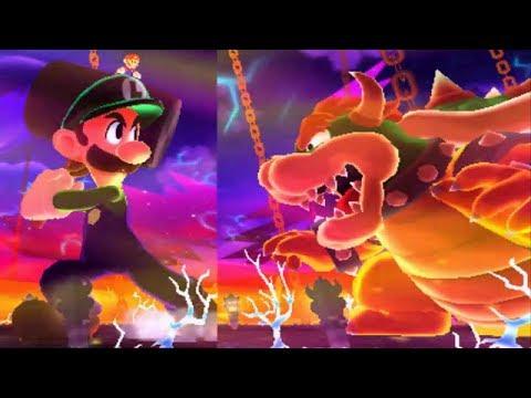 Mario & Luigi: Dream Team - All Giant X Bosses (Battle Ring)