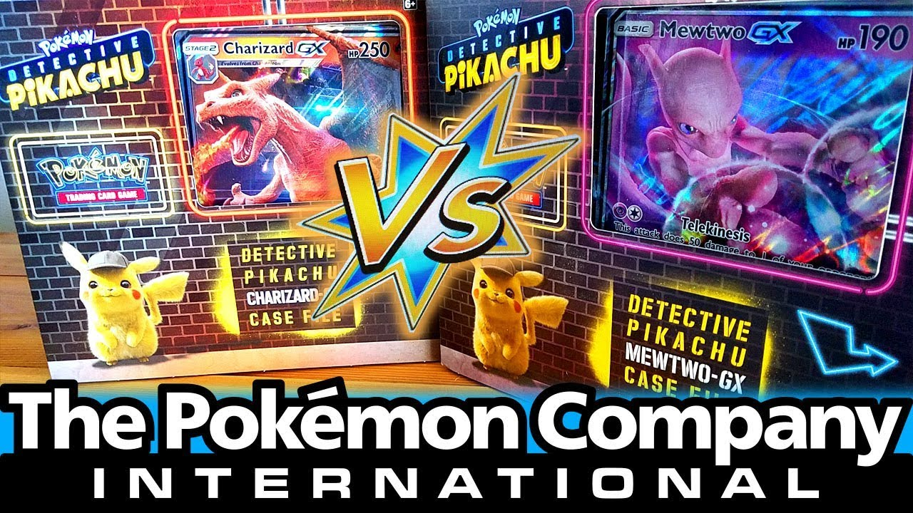 New Charizard Gx Vs Mewtwo Gx Case Files Detective Pikachu Pokemon