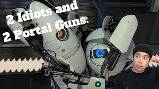 2 Idiots, 2 Portal Guns - Portal 2 Co-Op (PC) Live Stream and More!