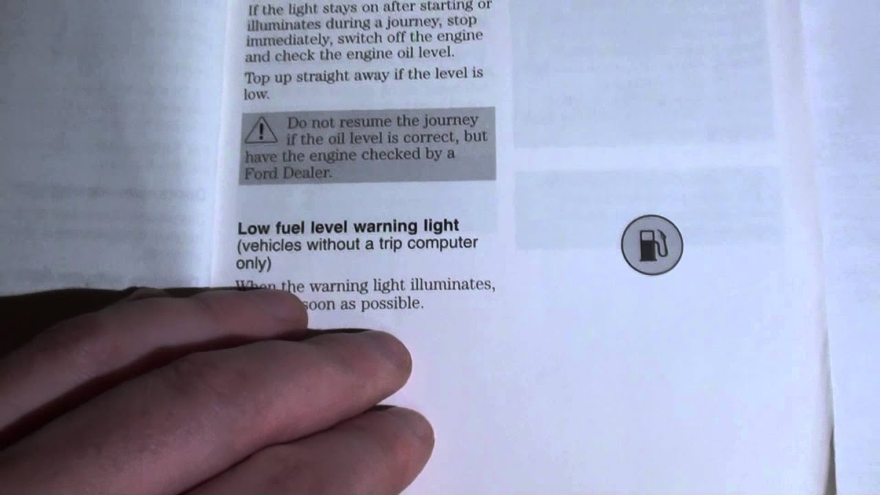 Ford Focus Dashboard Warning Lights U0026 Symbols   YouTube