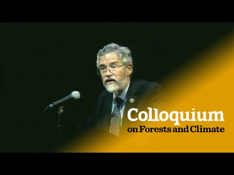 Colloquium on Forests & Climate: John Holdren on energy supply for sustainable landscapes