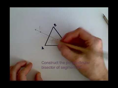 Construct a Circle Circumscribed about a Triangle