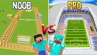 MINECRAFT NOOB VS PRO: ESTADIO DE FÚTBOL en Minecraft!