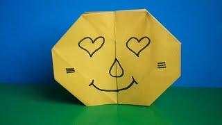 оригами смайлик меняющий лицо / Origami Smiley Changing Face