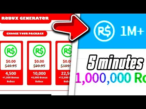How To Get 10 Million Robux Free 2018 New Robux Generator 2020 Gives Free Robux Robux Generator Gives 1 Million Robux L Roblox L Youtube